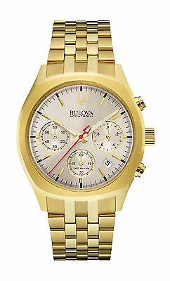 Bulova Accutron II Surveyor Men's 97B150 Quartz Chronograph Gold Tone Watch