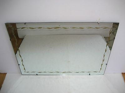 "Vintage Frameless Mirror with Wood Backing - 28"" x 20 1/6"" x 3/8"" - Pick up only"