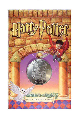 """2001 Harry Potter Isle of Man """"Struggling Through Potions""""  Crown Coin BU OGP"""