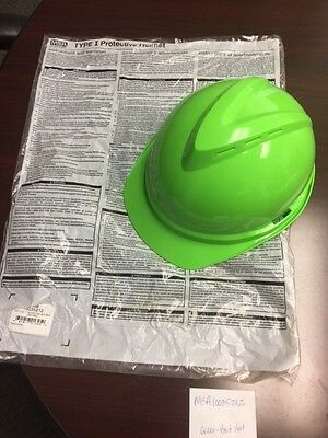 3MMH-704V-UV - 3M Hard Hat with Uvicator, Vented, Green, 4-Point Suspension