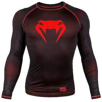 Venum MMA Rash Guard Contender 3.0 Long Sleeve Rashguard BJJ Compression Top