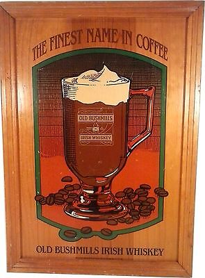Vintage Tavern Old Bushmills Irish Whiskey The Finest Name In Coffee Wood Sign