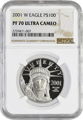 2001 W $100 Proof Platinum American Eagle NGC PF70 Ultra Cameo