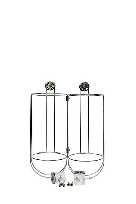 2 X AISI 316 Fender Basket 405 X 170mm (H X D) w railing clamps suits G1 fenders