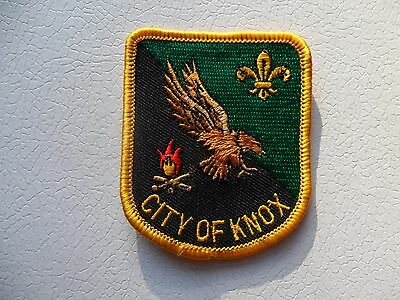 City Of Knox District Victoria Australian Scout Embroidered Cloth Badge