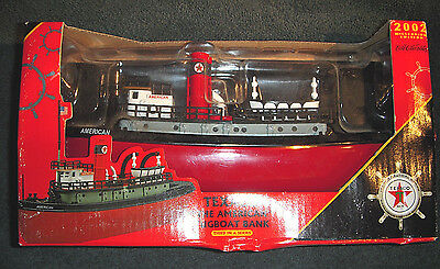 """Texaco """"The American"""" Tugboat Bank 3rd In Series Millennium Edition 2002 NEW"""