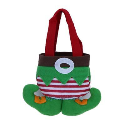 Cute Elf Christmas Gift Treat Bag Kids Candy Bag Home Party Xmas Tree Decoration