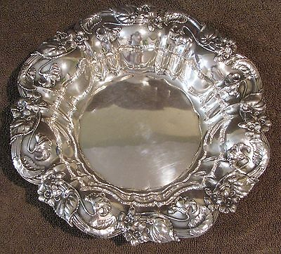 """Antique Sterling Silver Whiting Mfg. Co. Floral Repousse 8 3/4"""" Centerpiece Bowl"""