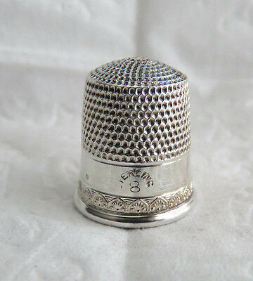 Very Nice Little Vintage Sterling Silver Sz 8 Thimble