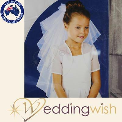 First Communion Veil, White Tulle Veil - Hens Party