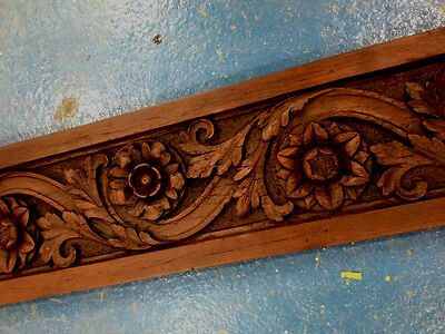 Victorian carved wood rose architrave frieze, pack of 5 replica, stock clearance