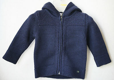 Baby Dior Navy Wool Hooded Jumper 6 Months