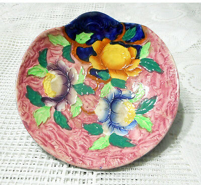 MALING 1930s HAND PAINTED PEONY BOWL MADE IN ENGLAND C506