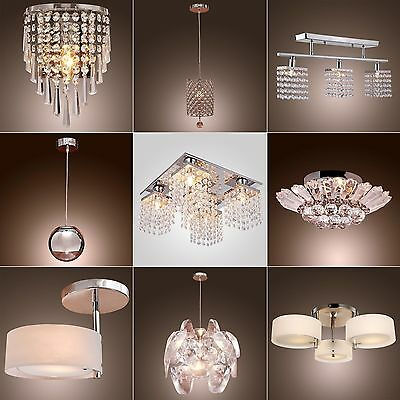 Vintage Modern Fixture Ceiling Light Lighting Crystal Pendant Chandelier Lamp HQ