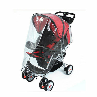 Universal Buggy Pushchair Stroller Pram Transparent Rain Cover Baby