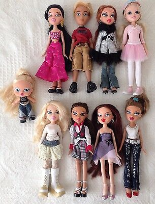 LOVELY lot Of 9 Bratz Fashion Doll Toy Diamondz Babyz Geniez Fully Dressed L@@K!