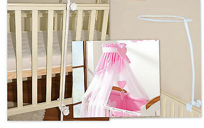 Baby Cot Canopy Drape  Mosquito Net Holder  Rod Bar Clamp Pole 4 Crib Cot Bed