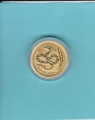 2012 1/10 oz gold Hear of the Snake coin