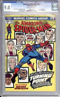 Amazing Spider-Man #  121  Death of Gwen Stacy Classic !  CGC 9.0  scarce book!