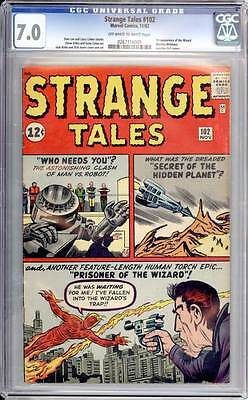 Strange Tales # 102  1st appearance of the Wizard !  CGC 7.0  scarce book!
