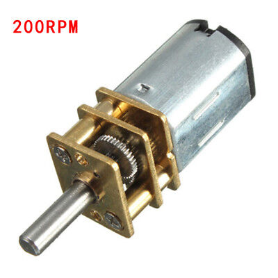 N20 DC 6V 50/100/150/200/300RPM Mini Speed Reduction Gear Brushed Motor Model