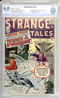 Strange Tales # 103  Prisoner of the 5th Dimension !  CBCS 6.0  scarce book!