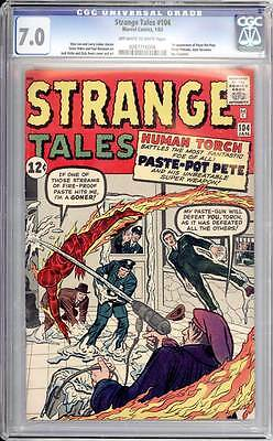 Strange Tales # 104  The Torch vs Paste Pot Pete !  CGC 7.0  scarce book!
