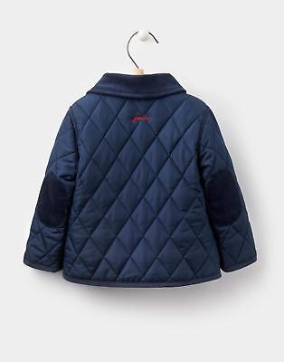 Joules 124455 Baby Boys Milford Quilted Jacket & Popper Fastening in French Navy