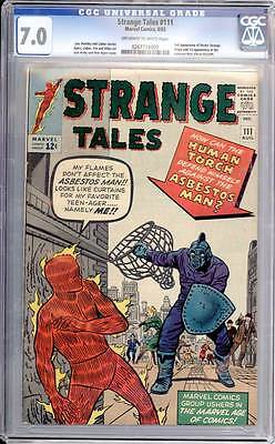 Strange Tales # 111  2nd appearance of Doctor Strange !  CGC 7.0  scarce book!