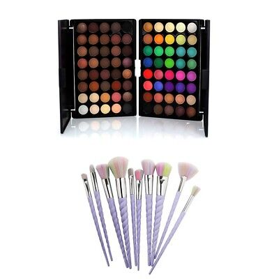 Eye shadow Palette Makeup 40 Colors Cream Matte Shimmer Set Cosmetic & Brushes