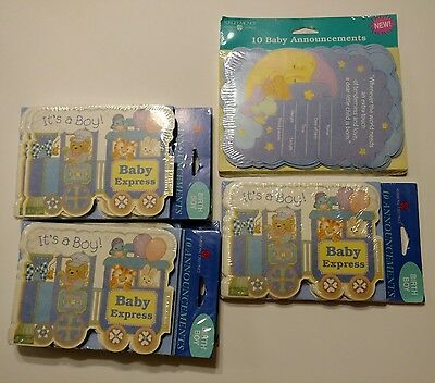 American Greetings Baby Announcements Lot of 6 Packages