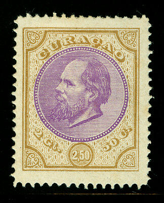 CURACAO 1879  King William  2.5g bister & purple  Sc# 7 mint MH VF