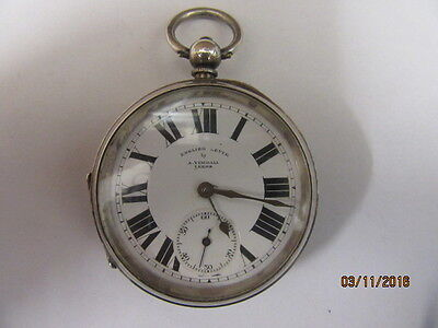 Silver Pocket Watch C1919 English Lever By A.Yewdall Leeds For Spares Or Repair