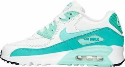 Nike Air Max 90 Ltr Sneakers New Youth Size 5 White/turq/jade/black 833376 106
