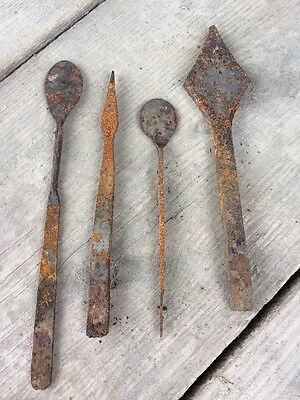 Hand Forged Rusty Lot Metal Primitive Tools