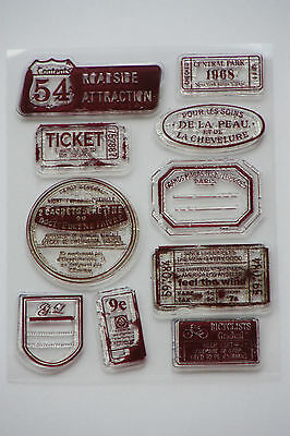 Silikon Stempel Set Tickets Clear Stamps Rayher