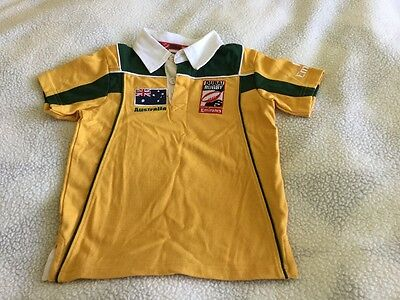 Size 2 Dubai Rugby 7s Australian Jersey. Official licenced product