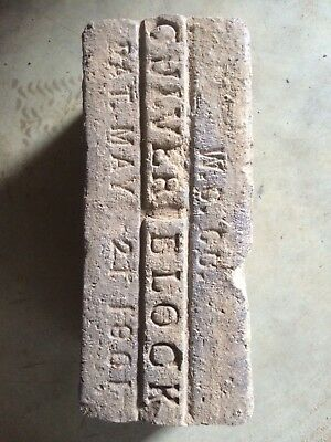 Reclaimed Antique Brick Paver Culver Block, Pat May 21 1901 W.C Co., Indy 500