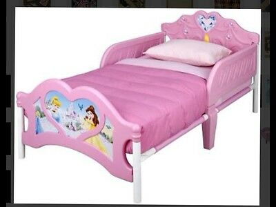 DELTA 3D DISNEY PRINCESS Pink TODDLER BED w Disney Princess Decals NEW Can POST