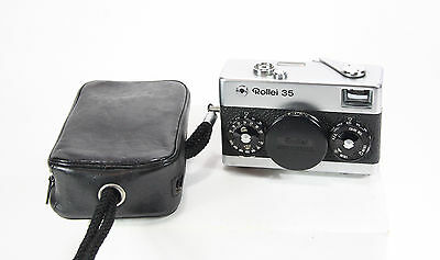 Rollei 35 Film Camera with f/3.5 40mm S-Xenar Lens, Case and Strap, WORKS