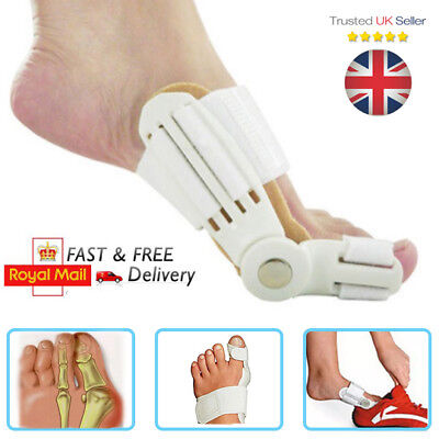 2 x Day & Night Toe Bunion Splint Aid - Hallux Valgus Straightener Corrector UK