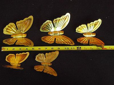 5 Vintage Home Interiors Butterfly Wall Hangings Metal Copper Tone Wall Decor