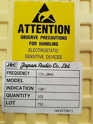 Japan Radio Company Saw Filter 1061-Nsvs Gps If Filter 174Mhz