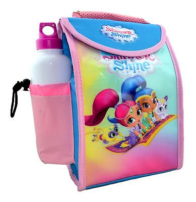 Shimmer & Shine 'Flying' School Lunch Bag With Bottle Brand New Gift