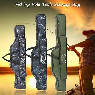 Adjustable Fishing Storage Bag Pole Rod Bag Case Reel Gear Carrier Holder K8G9