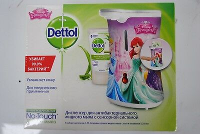 DETTOL NO TOUCH APPLICATOR - DISNEY PRINCESS DESIGN WITH 250ml REFILL HAND WASH