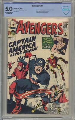 AVENGERS 4 - CBCS 5.0 - First Silver Age Captain America - Marvel Comics