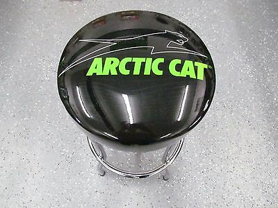 OEM Arctic Cat Aircat Black & Green Garage Stool Bar Stool 7639-872