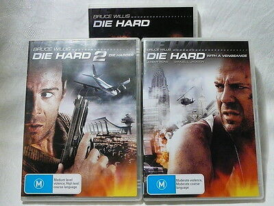 "Die Hard 1 / 2 And With A Vengeance, 3 Dvd Bundle ""preowned"", Auz Seller"