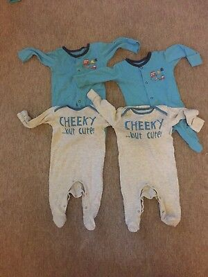 0-3 Month Twin Sleepsuits